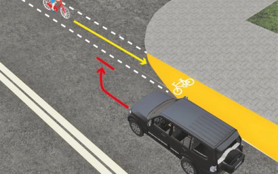 Zachowanie wobec pieszych, rowerzystów i pojazdów szynowych.